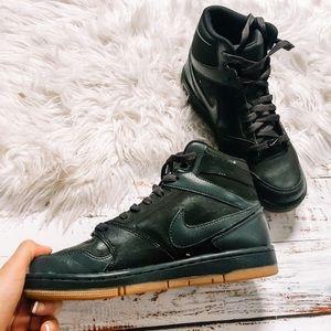 Nike black high top women's sneakers size 8